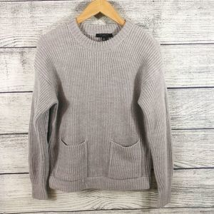Ann Taylor pullover thick chunky pocket sweater